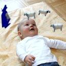 Mobile Baby Schäfer blau mit Mond